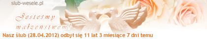 Mój suwaczek w portalu Ślub-Wesele.pl